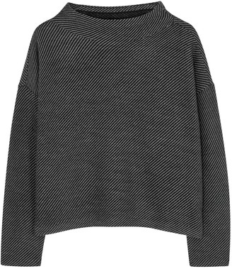 Eileen Fisher Striped Merino Wool Jumper