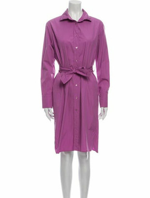 Hermes Knee-Length Dress Purple