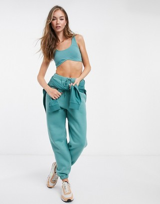 ASOS DESIGN mix & match co-ord oversized sweatpants in teal