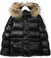 Moncler 'Hubet' padded jacket - kids - Polyamide/Fisher/Racoon Fur - 4 yrs