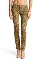 Level 99 Lily Printed Skinny Straight Leg Jeans