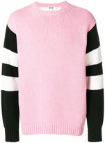 MSGM striped arms jumper