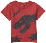 City Threads Dino Silhouettes Textured Graphic Tee (Baby) - Red-3-6 Months