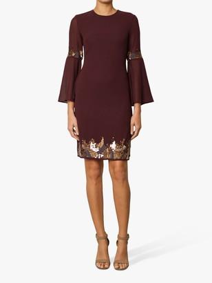 Raishma Embellished Tunic Dress, Burgundy
