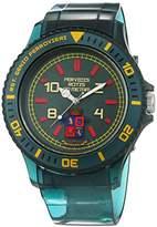 Trias Men's Quartz Watch with Black Dial Analogue Display Quartz Rubber Door 48
