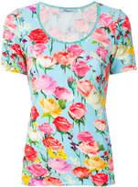 Blumarine embroidered trim floral T-shirt
