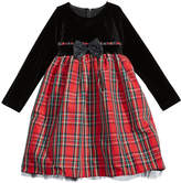 Good Lad Velvet and Plaid Party Dress, Little Girls (4-6X)