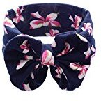 Sothread Baby Girl Elastic Bowknot Headband Hair Band Bohemia Headdress Accessories (Navy)