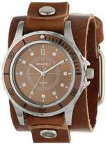 Nemesis Women's BGB092B Brown Collection Stone Encrusted Leather Band Watch