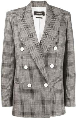 Isabel Marant plaid double breasted blazer