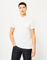 Sunspel Short Sleeve Riviera Polo Shirt White