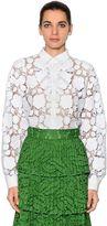 N°21 Roses Macramé Lace Shirt
