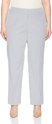 Nine West Women's Size Plus Mini Stripe Trouser Pant