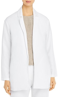 Eileen Fisher Notched-Lapel Blazer
