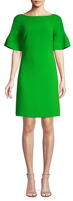Trina Turk Soujourn 2 Bell-Sleeve Crepe Sheath Dress