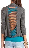 Charlotte Russe Slashed Back Knit Cover-Up