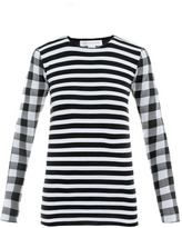 Stella McCartney Check and stripe sweater