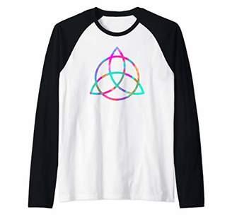 Celtic Triquetra Trinity Knot Neopagan Wicca Symbol Raglan Baseball Tee
