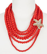 Anna & Ava Starfish Multi-Strand Statement Necklace