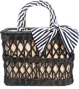 Rafe Ann Rattan Basket Tote Bag