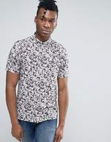 French Connection Short Sleeve Shirt in Regular Fit with All Over Floral Print