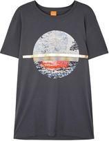 Boss Taye Grey Printed Pima Cotton T-shirt