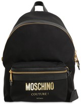 Moschino Medium Couture Logo Nylon Backpack