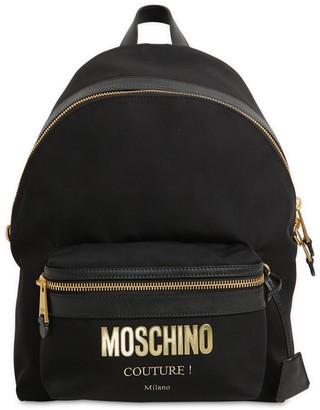 Moschino Medium Couture Logo Nylon Backpack