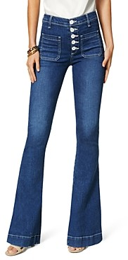 Ramy Brook Cindy Button Fly Jeans in Medium Wash