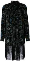 Anna Sui robe with fringed hem