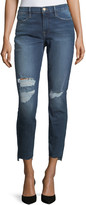 Frame Le High Skinny Jeans with Raw Hem