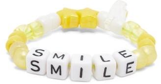 LAUREN RUBINSKI Smile Beaded Bracelet - Yellow