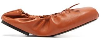 KHAITE Ashland Foldable Leather Ballet Flats - Tan
