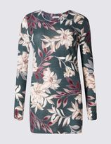 Marks and Spencer Floral Print Long Sleeve Jersey Top