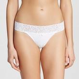 Xhilaration Women's Cotton Wide Lace Thong