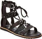 Sorel Ella Lace-Up Leather Sandal