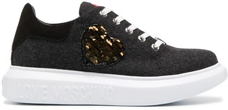 Love Moschino Lace-Up Leather Trainers