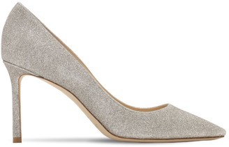 Jimmy Choo 85mm Romy Fine Glitter Pumps