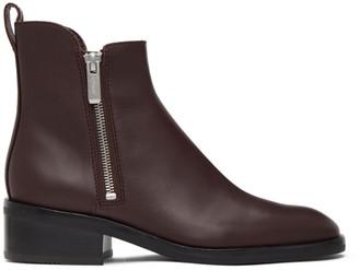 3.1 Phillip Lim Burgundy Alexa Ankle Boots