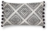 "Mudhut Masai Decorative Pillow (14""x24"") Black&White"