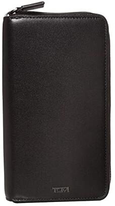 Tumi Nassau Zip-Around Travel Wallet (Black Smooth) Wallet