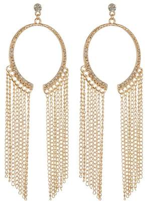 Ettika Half Ring Fringe Earrings