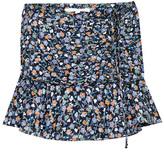 Veronica Beard Viola Ruffle Hem Mini Skirt