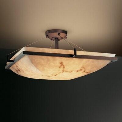 Brayden Studio Keyon 6 Light 27 Unique Statement Bowl Semi Flush Mount Finish Brushed Nickel Shopstyle
