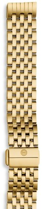 Michele Gold-Plated Stainless Steel Chain-Link Watch Strap