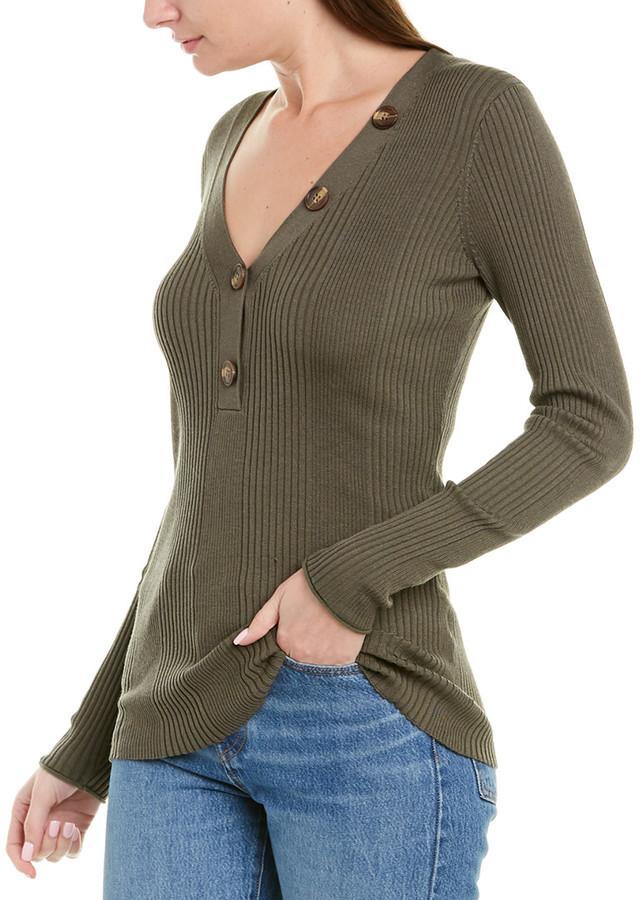 Jason Wu Ribbed Silk & Alpaca Blend Sweater ShopStyle