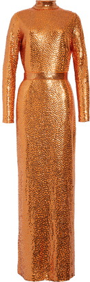 Marc Jacobs Sequin Long Sleeve Gown