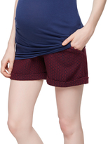A Pea in the Pod Secret Fit Belly Jacquard Geo Maternity Shorts