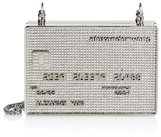 Alexander Wang Wangloc Credit Card Rhinestone Minaudiere