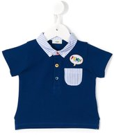 Fendi speech bubble logo patch polo shirt - kids - Cotton - 6 mth